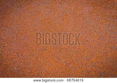 Rust Texture As Metal Plate Background