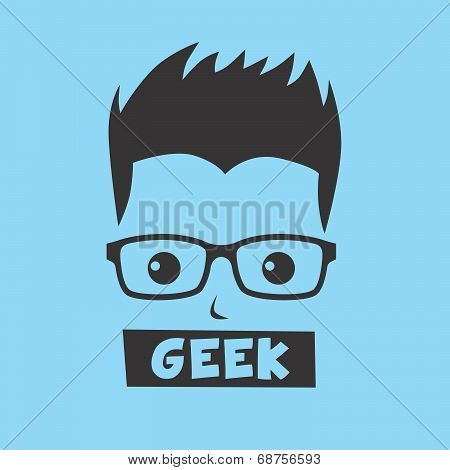 Geek Cartoon Character