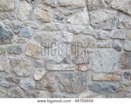 Stone wall irregular