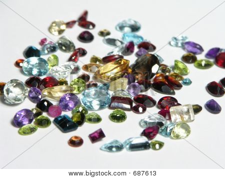 Mixed Faceted Gemstones