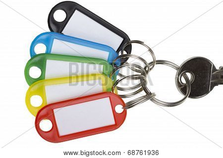 One key with five tags