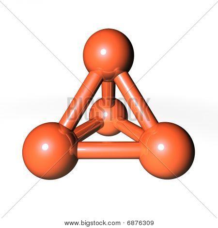 Molecule Structure Brownish-orange