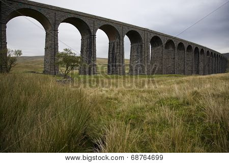 Ribblehead Viaduct, River Ribble, Yorkshire Dales, Yorkshire, England