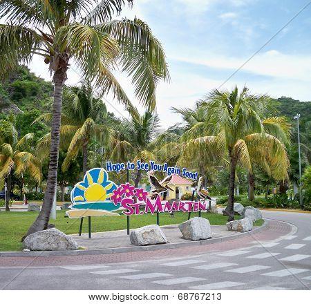 Farewell sign at St. Maarten, USVI