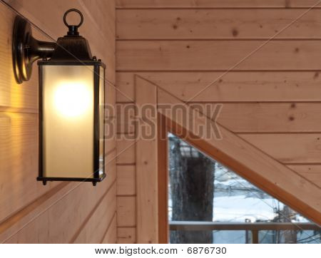 Indoor Lamp In Country House