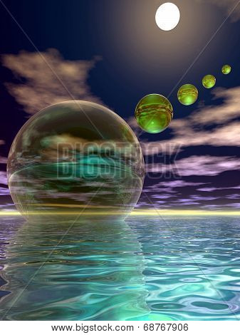 Night Invasion Of The Spheres