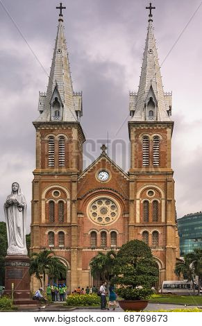 Cathedral Of Notre Dame In Saigon.