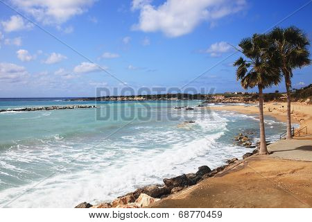 Coral Bay in Cyprus