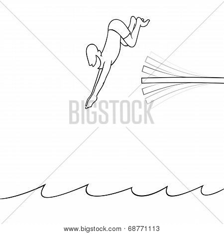 Man diving into the water