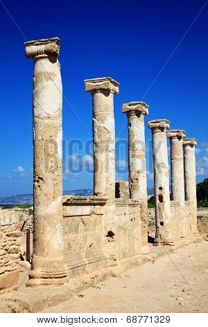Roman Columns, Paphos , Cyprus
