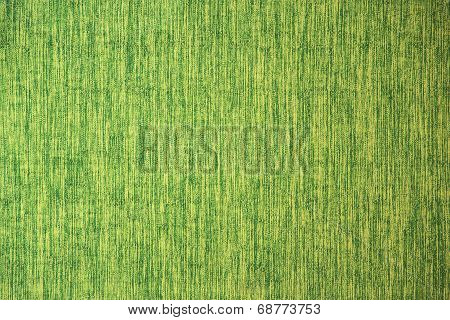 Close Up Line Yellow Green Fabric Texture
