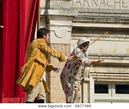 Theatre Scene In Old French Castle