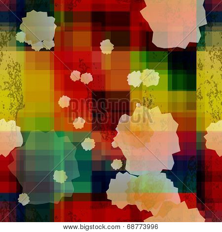 Rainbow Colored Old Ganged Blurred Mosaic Seamless Pattern