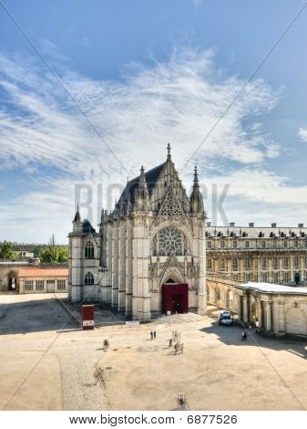 Old Medieval Cathedral In French Castle