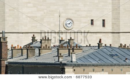 Clock On The Castle Wall
