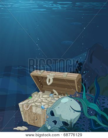 Fabulous scenery seabed treasure