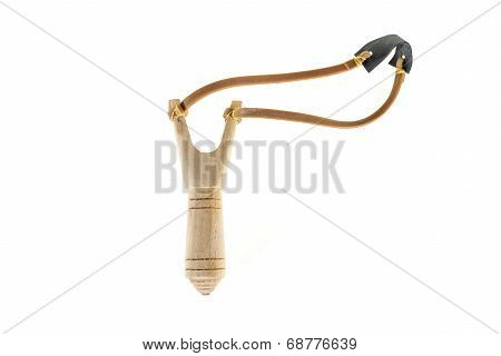 Catapult Slingshot Isolated On White Background