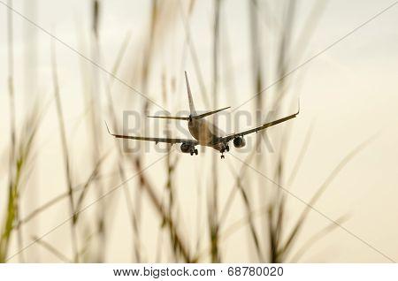 Aeroplane Ready To Landing
