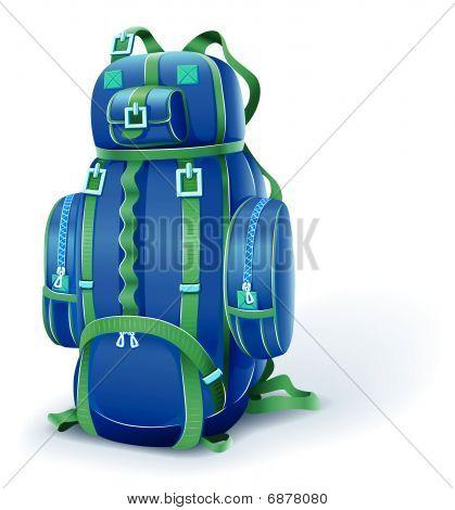 Blue Big Backpack For Travel