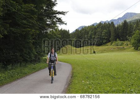 Man With Moutainbike