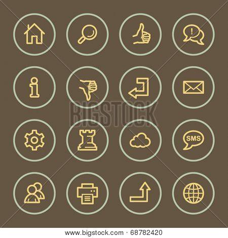 Basic web icons set, coffee series