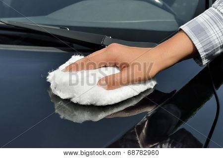 Car Care - Polishing a Car with Wadding Polish