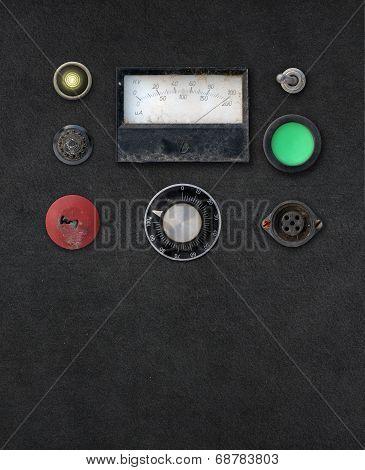 Vintage Ampere Meter Dashboard
