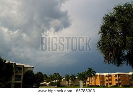 Stormy Sky Over Apartment Complex