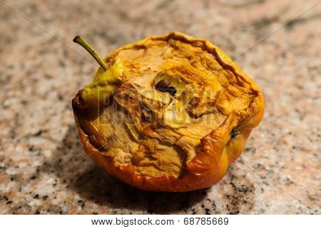 Half-eaten Dried Apple.