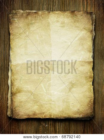 Vintage background with old paper and letters