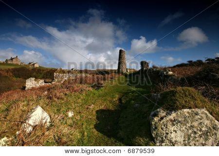 Mine Remains At Lower Porthmeor West Cornwall United Kingdom
