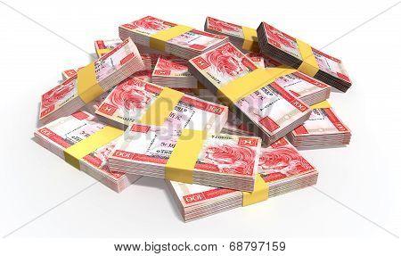 Hong Kong Dollar Notes Scattered Pile