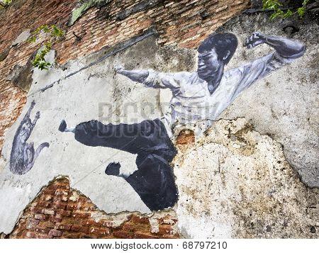 Street Art Mural In Georgetown, Penang, Malaysia