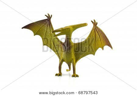 Pterosaur Dinosaur Toy Isolated On White