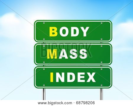 3D Body Mass Index Road Sign