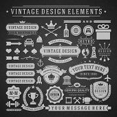stock photo of arrow  - Vintage vector design elements - JPG