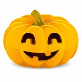 foto of smiling  - Halloween pumpkin - JPG
