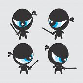 picture of ninja  - ninja character vector graphic art design illustration - JPG