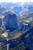 pic of granite dome  - View from Sentinel Dome in Yosemite National Park in California - JPG