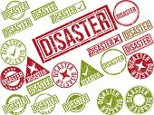 pic of scourge  - Collection of 22 red grunge rubber stamps with text  - JPG