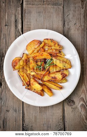 Baked Potato Wedges, Top View