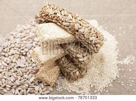 Kozinaki Sunflower Seeds And Sesame Seeds.