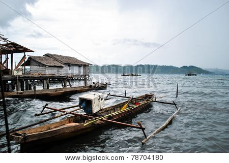 Fishing boat in Togean islands