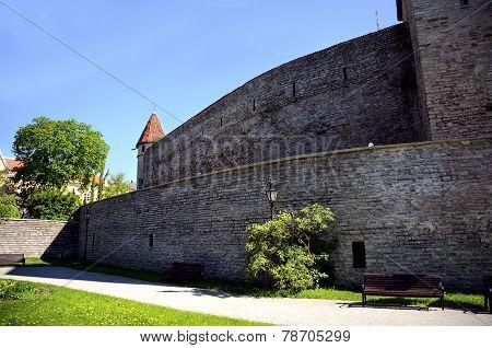 Old City Wall Tallinn Estonia