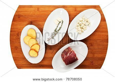 ingredients for cooking meat dishes. close-up