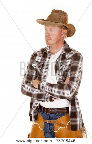 Cowboy Cross Arms Look Side Chaps