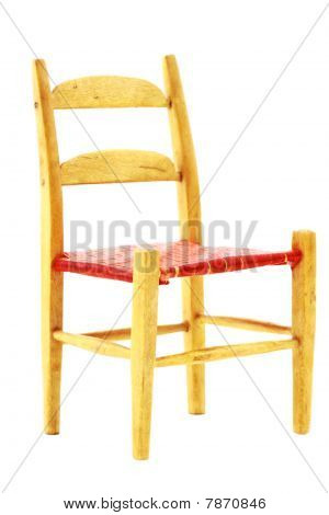 Isolated Wooden Chair