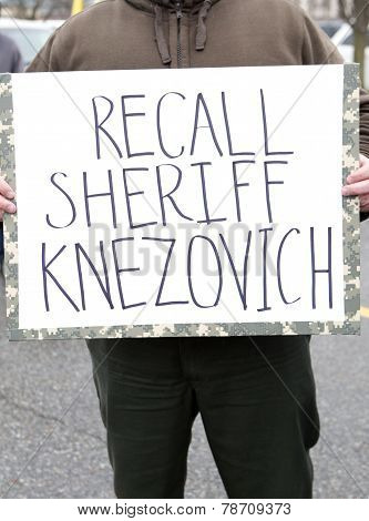 Protestor's Sign.