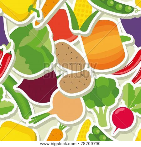 Vegetable Seamless Pattern. The Image Of Vegetables