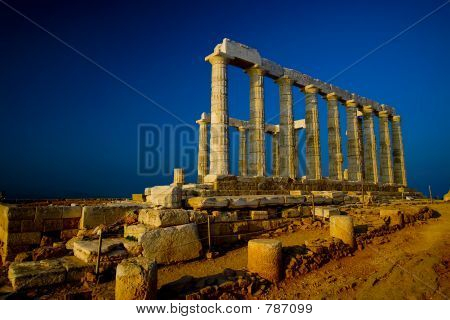 Temple Of Poseidon (W. Copy Space)